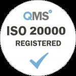 ISO 20000 Registered - White