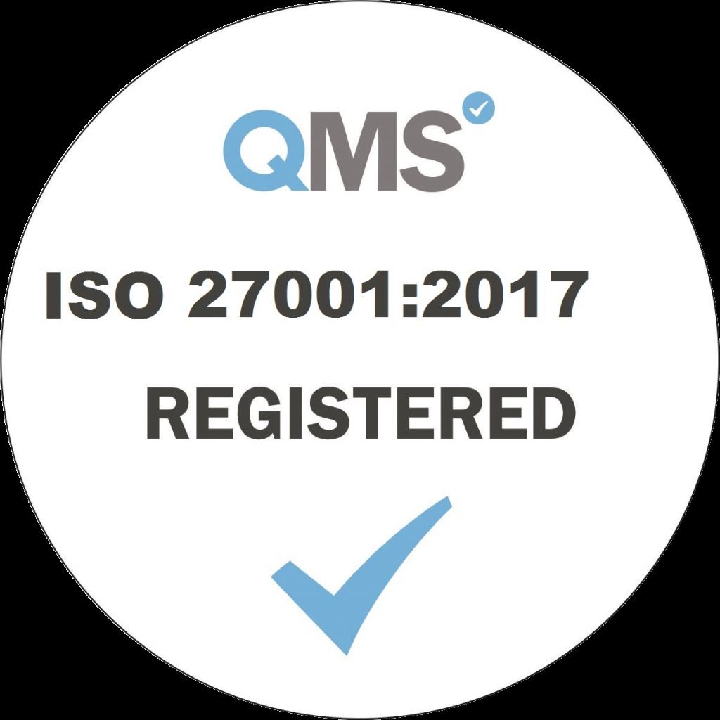 logo ISO 27001 2017 Registered