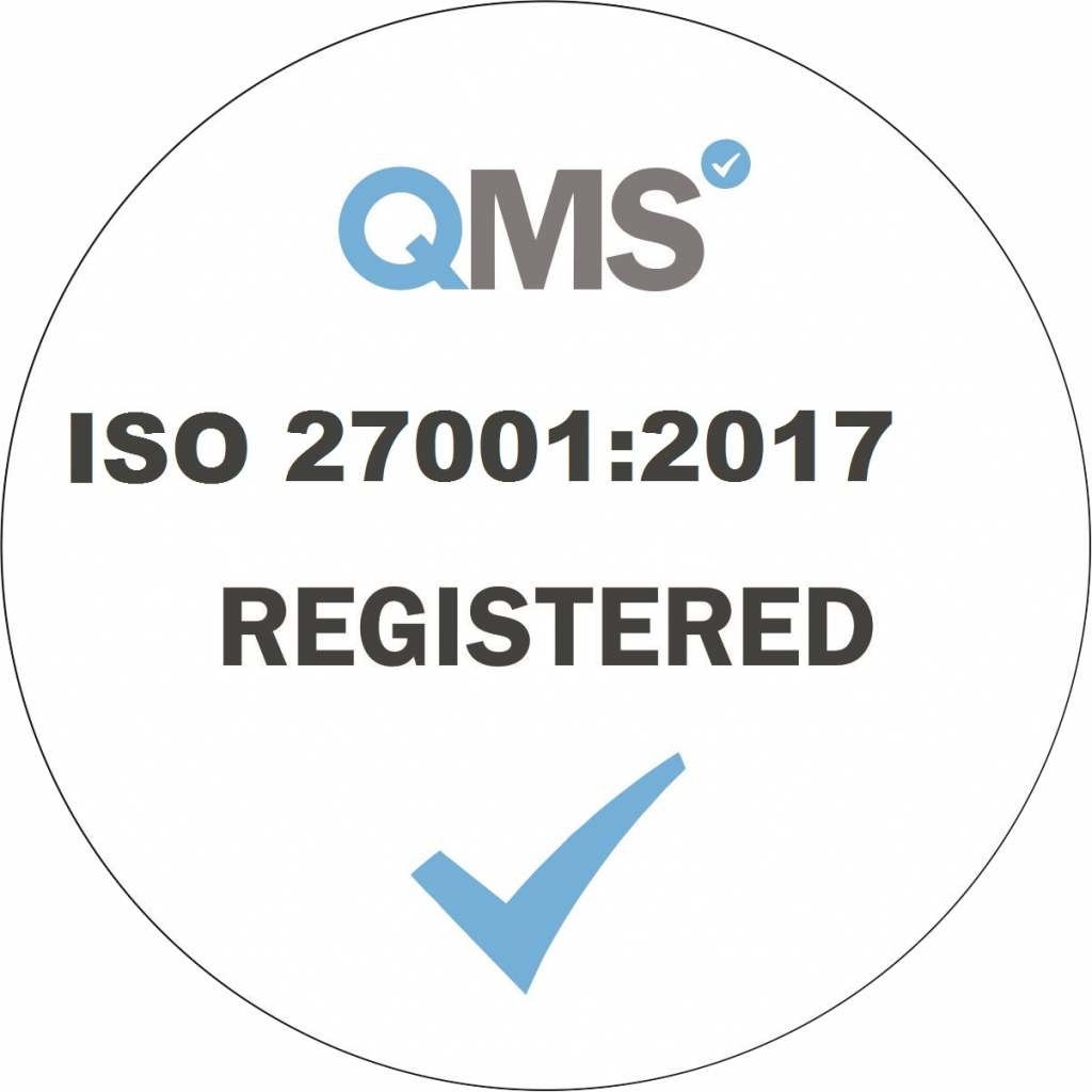 ISO 27001-2017 Registered - White